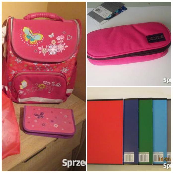 Kolorowy i funkcjonalny plecak, cienki zeszyty i piórnik dla Twojego pierwszoklasisty