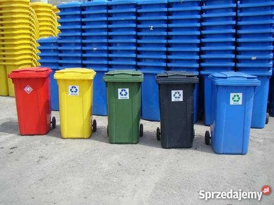 Kolorowe kosze do segregacji śmieci i odpadków