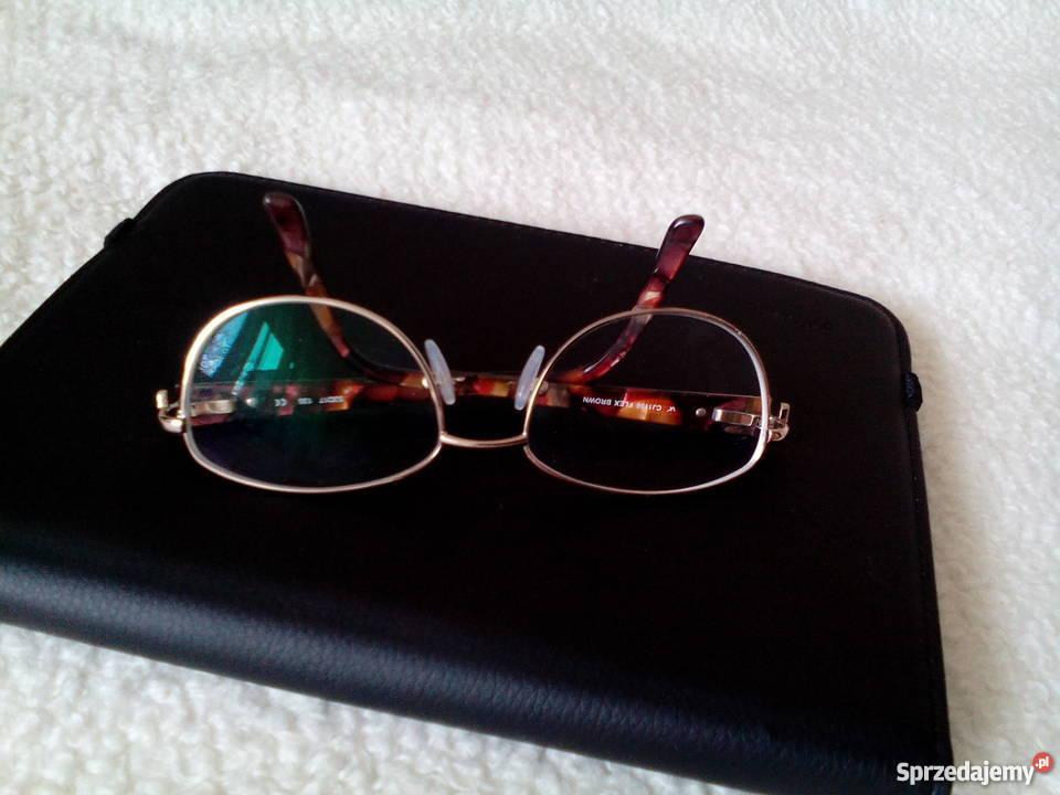 Brązowe okulary korekcyjne