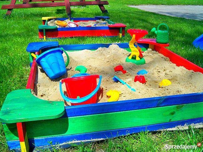 Piaskownica ogrodowa dla dzieci