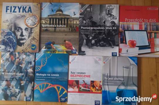 Podręczniki szkolne do liceum