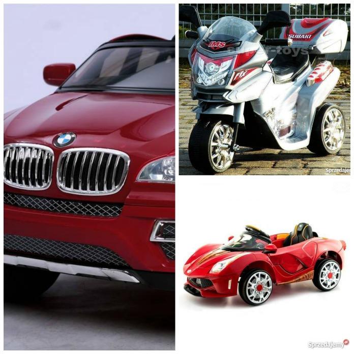 Pojazdy dla dzieci przypominają autentyczne modele aut i motorów