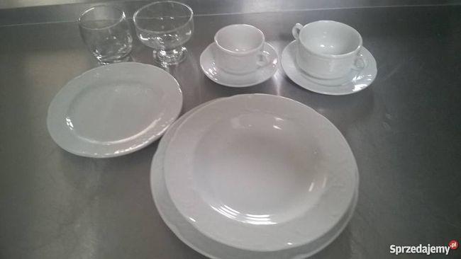 Biały serwis obiadowy