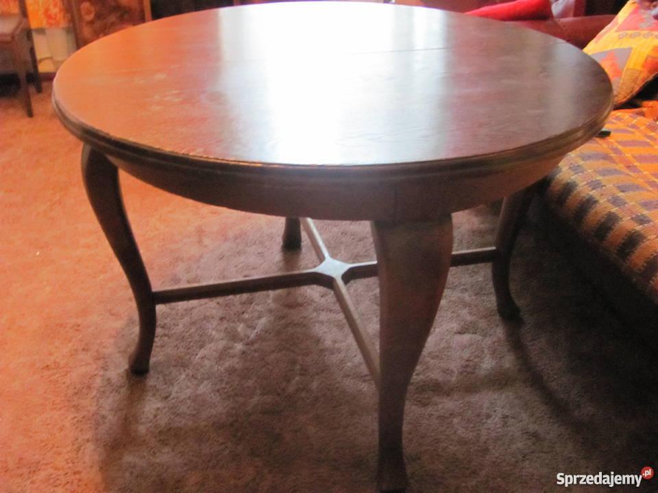 Piękny antyk - drewniany stół