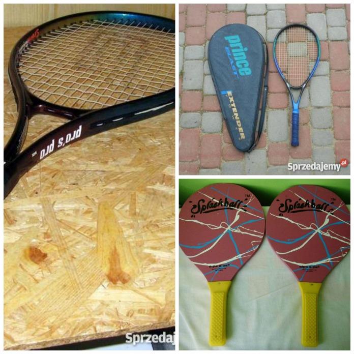rakiety do tenisa, tenisa stołowego i squasha